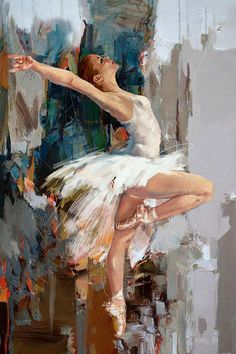 """Ballerina"" Original Oil #Painting by Artist: Mahnoor "" Mano "" Shah canvas, modern oil, ballet art"