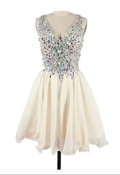 Custom Made A Line Short V Neck Prom Dresses, Graduation Dresses, Homecoming Dresses