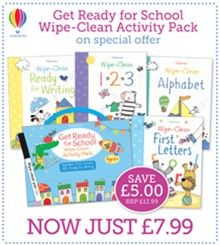 Another FAVOURITE Special Offer BACK!  #Usborne Get Ready for #School Wipe-Clean #Activity Pack for just £7.99 http://org.usbornebooksathome.co.uk/bookskidslove-co-uk/blog/953/get-ready-for-school-wipe-clean-activity-pack-for-just-799.aspx