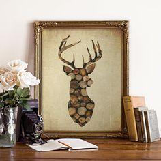 Printable Deer Poster stag print by LavenderHillPrints on Etsy