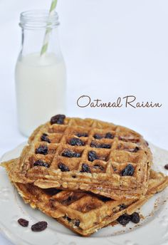 Cinnamon Raisin Cookie Waffles... @Teressa Stanford don't forget I want a waffle iron!