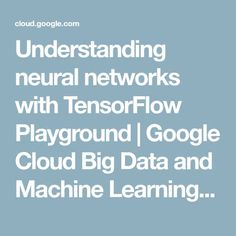 Understanding neural networks with TensorFlow Playground Machine Learning Book, Machine Learning Tutorial, Marketing Poster, Marketing Quotes, Data Science, Computer Science, Cloud Infrastructure, Science Articles, Deep Learning