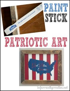 "DIY Wall Art | ""God Bless America"" patriotic sign made from 5 gallon paint sticks"