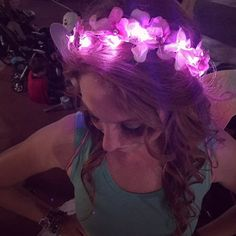 Light Up Flower Crown by CassysKandiShop on Etsy