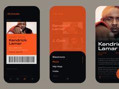 Music Events Animated designed by Dawid Kramarczyk. Web Design, App Ui Design, Mobile App Design, Interface Design, User Interface, Layout Design, Mobile Web, Dashboard Design, Web Layout