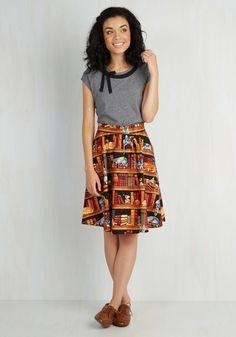 Fun for the Books Skirt, #ModCloth