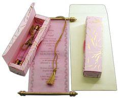 Unique Quinceanera Invitations, designer quincenera invitations, sweet 15 scroll invitations & cards