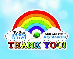 nhs thank you drawing Rainbow Drawing, Rainbow Painting, Rainbow Art, Rainbow Colors, Window Stickers, Vinyl Wall Stickers, Thank You Poster, Nurses Week Quotes, Curriculum Design