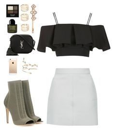 """Day 279"" by msmaharaja ❤ liked on Polyvore featuring Gianvito Rossi, Topshop, Henri Bendel, Revlon, Byredo and Yves Saint Laurent"
