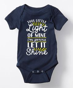 Love this Navy 'This Little Light of Mine' Bodysuit - Infant on #zulily! #zulilyfinds