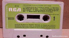 GRANDES FANDANGOS GITANOS. MC / RCA - 1972 / CINTA DE LUJO - SIN CARÁTULA.
