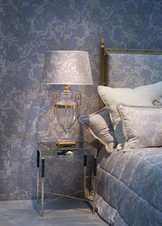 VERSACE HOME - Love the bedding, but I could never have matching wallpaper.