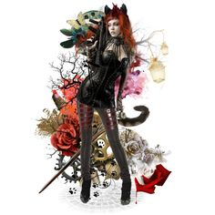 Cheshire Cat was an Anarchist Right Meow, Like A Cat, Cheshire Cat, Wonder Woman, Superhero, Cats, Polyvore, Design, Women