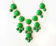 SALE  Emerald Green  Big Size Bubble Statement Necklace by himediy, $19.00