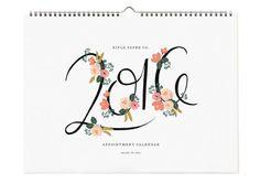 Anna Bond of Rifle Paper Co. illustrates the most beautiful calendars each year, and 2016 is no different! Paper Luxe is proud to carry four 2016 Rifle Paper Co. calendars this year, available for purchase now, while supplies last. Filofax, Appointment Calendar, 2016 Calendar, Paper Source, Desk Calendars, Rifle Paper Co, Floral Wall, Appointments, Paper Goods