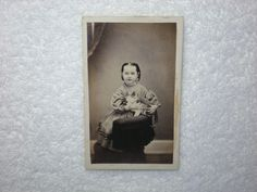 Antique CDV Photograph of A Young Girl Holding A Cat   eBay