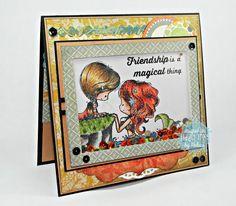 RL Design - Invitatii si felicitari Handmade : Magical Friendship - Handmade Card (Felicitare Handmade - Sirena)