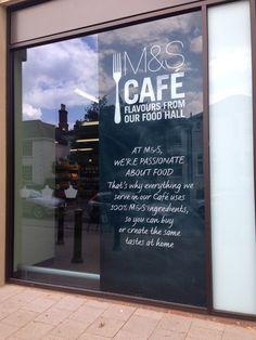 M&S cafe window