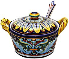 Google Image Result for http://italian-ceramics-art.com/elegant-dishes-gifts/images/P/ceramic-majolica-sugar-bowl-with-spoon-ricco-vario-fm-01.jpg