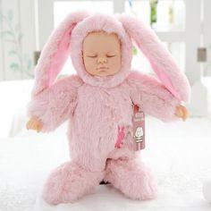 Crunch Baby Animal Dolls - LIMITED EDITION pink rabbit / 25cm