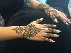 Beautiful #henna on beautiful clients! There's no other place like Divine Threading for indulging. #DivineThreading #Henderson #HennaTattoo