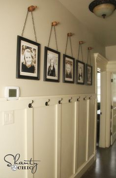 frames on finials. I like this for a hallway if you have a small coat closet.