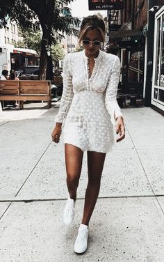 Pretty white textured dress.