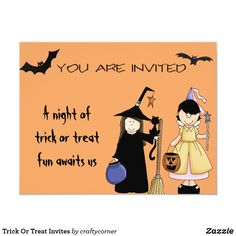 Trick Or Treat Invites Adult Halloween Invitations, Best Candy, Fairy Princesses, Scary Halloween, Goblin, Trick Or Treat, Invites, Keep It Cleaner, Treats