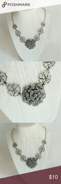 Statement Necklace Beautiful statement necklace. Silver color. Firm price unless bundled. Jewelry Necklaces