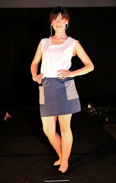 Amatoria High-Waist Denim Skirt with Wrap-Around Pockets