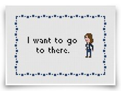 30 Rock Liz Lemon cross stitch pattern -- I want to go to there.