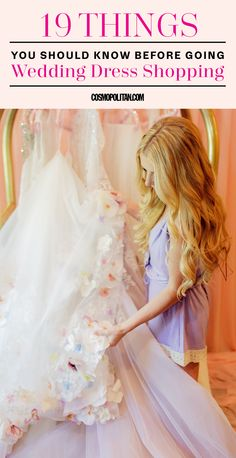 19 THINGS YOU SHOULD KNOW BEFORE YOU GO WEDDING DRESS SHOPPING: When so much meaning is ascribed to a piece of clothing, the prospect of looking for a wedding dress can seem daunting. Here, Hayley Paige, designer of Hayley Paige and Blush by Hayley Paige, and Lori Allen, founder of Bridals by Lori and star of Say Yes to the Dress: Atlanta, share their expert advice on what you should know before going wedding dress shopping. Find more wedding ideas and tips at Cosmopolitan.com.