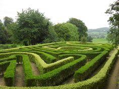 Anniversary Maze, Painswick Rococo Garden, Gloucestershire, England. Via www.geograph.org.uk.