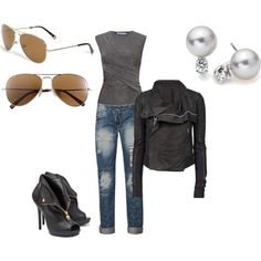 biker chick, created by samantha198626 on Polyvore