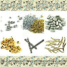 gold & silver - i also have lots of other great colours in my craft supplies shop on Etsy Ideal for jewellery design and craft projects Hobbies For Adults, Fun Hobbies, Hobby Supplies, Craft Supplies, Craft Kits, Craft Projects, Art And Hobby, Bead Store, Jewelry Crafts