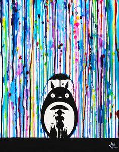 My Neighbor Totoro paint splatter - Neighbours by Marc Allante