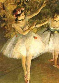Let me guess, hmm ballerina, must be.... Edgar Degas. Realism?
