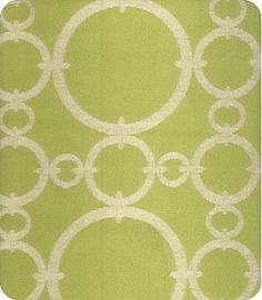 Connected Green Woven Fabric