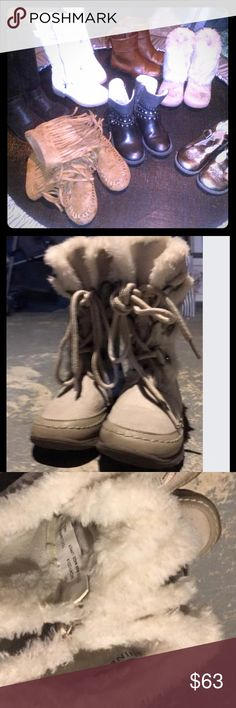 Toddler new boots Size twelve shoes. Fur boots Nine West brand new never worn.  Winter boots never worn. All other worn half a season. All brand new Shoes