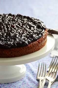 Jam-Topped Spiced Honey Cake #dessert #recipe www.polanerspreads.com #jam