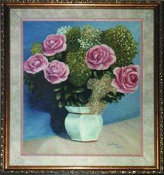 Rosas, óleo sobre tela