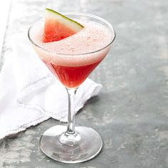 Mixed drinks don't get lighter or more refreshing than this fresh and fruity martini. It's like sipping on summer in a glass (although it would be tasty yearround).