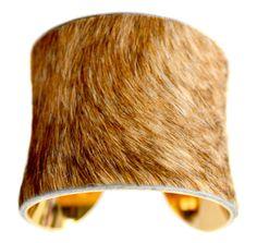 Cowhide Fur Cuff Bracelet.