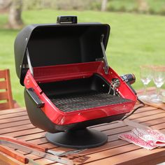 The Meco Deluxe Tabletop Electric Grill is great for use at the campground, tailgating, parks. Small Gas Grill, Clean Grill, Bbq Grill, Electric Bbq, Electric Grills, Table Top Grill, Infrared Grills, Outdoor Barbeque, Grilling