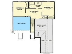Plan 3422VL: Open Living Area