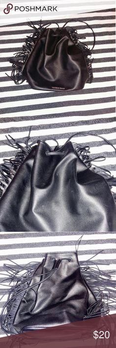 Victoria's secret back pack Black drawstring Victoria's secret back pack! Only used for a month still in great condition! Victoria's Secret Bags Backpacks