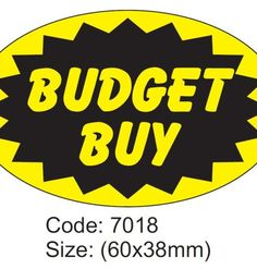 Budget Buy #FoodLabel - Chameleon Print Group - #Australia  http://chameleonprint.com.au/product/budget-buy-food-label/