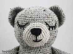 How to Add Faces to Your Amigurumi: Sleepy Eyes / 12 Step Tutorial by SquirrelPicnic.com
