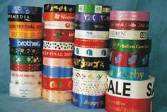 """""""Our printed ribbon is perfect for the promotional, retail, floral & special events industries Printed Ribbon, How To Make Ribbon, Grand Opening, Special Events, Ale, How To Memorize Things, Packaging, Make It Yourself, Holiday Decor"""