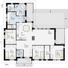 Simons Hus - Elementtitalot - COMODO Humble Abode, House Plans, Sweet Home, New Homes, Floor Plans, Layout, Houses, House Design, Flooring